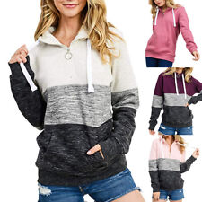 Fashion Womens Pullover Soft Fleece Zip-Up Pullover Hooded Casual Sweatshirt