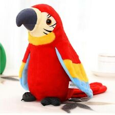 Talking Parrot Repeats Recording Plush Toys Cute Speaking Waving Wings Electric