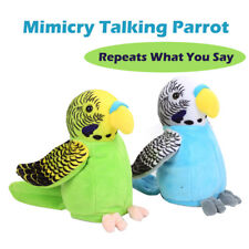 Mimicry Pet Speak Talking Parrot Repeat What You Say Plush Electronic Kids Toy