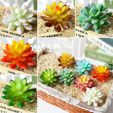 Artificial Succulent Plants Unpotted Fake Flocked Stems Home Office Desk Decor