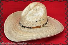 35-O Toasted Palm GUS ~COWBOY HAT~ Western PALM LEAF ~ Durable Straw - TEXAS