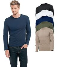 Hanes 5530 Cotton Long Sleeve Slim Fit Tee T-Shirt