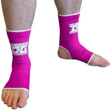 NEON PINK DUO MUAY THAI MMA ANKLE SUPPORT ANKLETS