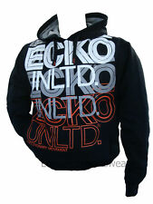 ECKO MENS RICHMOND HOODED TRACKSUIT TOP BLACK ALL SIZES
