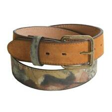 Mossy Oak & Realtree Camo Leather Mens Belt 30/32 NEW