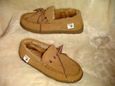 Mens Cinnamon Sheepskin Loafer, Moccasin Style