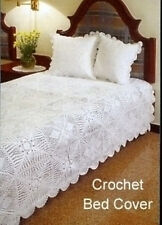Hand crocheted bed spread and pillow covers
