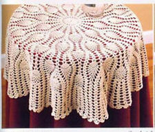 """Round crochet tablecloth / table topper - 36"""""""