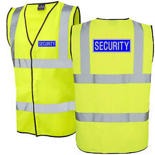 SECURITY HI Viz VEST HIGH VIS WAISTCOAT ALL SIZES