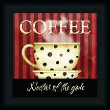Nectar of the Gods Coffee by Barb Tourtillotte Kitchen Décor 12x12 Framed Art
