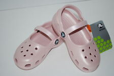 CROCS MARY JANES girls 6/7 8/9 10/11 12/13 CANDY PINK shoes sandals clogs