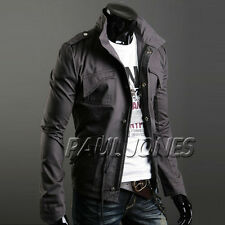 Strong Men's Stylish Slim Fitted Jackets Coats XS~L Outerwear For Christmas Gift