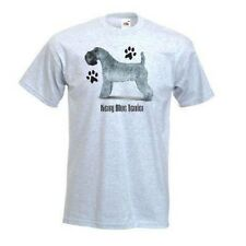 Kerry Blue Terrier Paws Design Printed On A Ash Grey FOTL T-Shirt