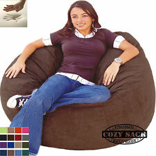 Bean Bag Chair Memory Foam Filled Comfort By Cozy Sack 4' Gamer Sack