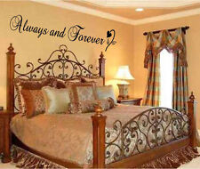 Always and Forever Vinyl Wall Art Word Decal Sticker Decor