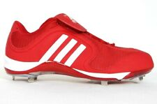 Adidas SM Excelsior 6 Low Baseball Cleats Softball Red & White Mens NEW