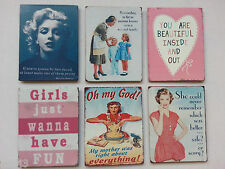 Marilyn Monroe FRIDGE MAGNET  Other Retro Styles with Various Humorous Quotes