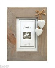 Rustic WOODEN PHOTO FRAMES Single 7 x 5 other choices available hearts shutters