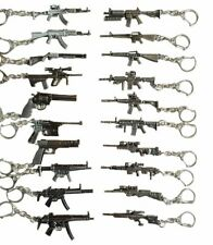 METAL REPLICA MACHINE HAND GUN PISTOL RIFLE M16 NINJA BLADE SNIPER KEYRINGS GIFT