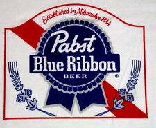 AUTHENTIC PBR PABST BLUE RIBBON BEER T SHIRT ROCKABILLY RETRO MILWAUKEE NEW