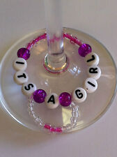 It's a Boy-Girl-Champagne Flute-Glass Wine-Place marker-Decoration-Charm 1-6