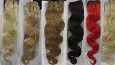 "18""-22"" Remy Human Hair Sewed in Body Wavy Weft/EXTENSION 100g,width 59"""