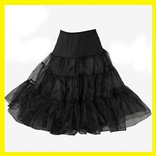 "26"" Black or white Lady 50's PROM Underskirt Rock n' Roll Petticoat TUTU"