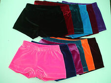 Girls Gymnastic Dance leotard Skimpy Shorts SIZE 4,6,7,8,9,10,12  Multi COLOURS