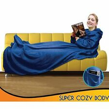 New Black/Blue/Red Snuggie Blanket with Sleeves Super Soft Fleece Free Shipping
