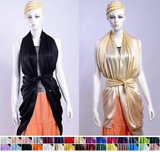 "100% Silk Scarf  Extra Large & Long Scarf Silk Shawl 30 colors 44""​x88"""