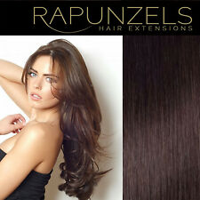 "Dark brown hair extensions weave weft colour 2 remy hair 16"", 20"", 24"" long"