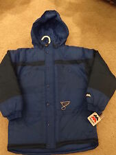 New NHL St. Louis Blues Youth Hooded Blue & Black Parka - Sizes 8 - 20