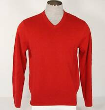 Izod V Neck Red Cotton Blend Knit Sweater Mens NWT