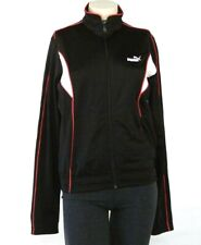 Puma Signature Agile Zip Front Track Jacket Black & Pink & White Womans NWT