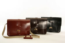 Handmade Leather Satchel Laptop Traditional English Bridle Made in Bristol