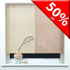 JUTE STRIPE ROLLUP ROLLER BLINDS *Many Sizes* Trimable