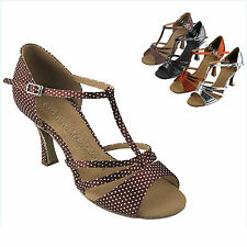 Women's Salsa Ballroom Tango Wide Width Dancing Dance Shoes Very Fine Sera 1683