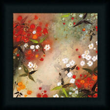 Gardens in the Mist XII by Aleah Koury Red Abstract 12x12 Framed Art Print