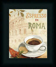 Espresso in Roma Cafe III Coffee Kitchen Sign Framed Art Print Artwork Picture
