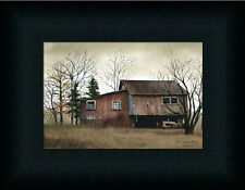 Tractor Barn by Billy Jacob Old Red Barn Country Framed Art Print Décor 5x7