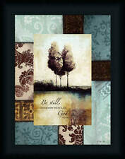 Be Still And Know That I Am God by Dee Dee Bible Verse Spiritual Sign Framed Art