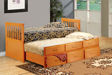 MARINO TWIN DAYBED WITH TRUNDLE INCLUDES 3 STORAGE DRAWERS...WHITE, OAK, CAP
