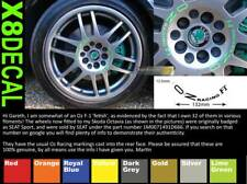 SupergraphicsF1 Wheel centre Decal stickers to fit OZ Racing F1 X8 Colour 132mm