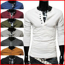 THELEES Mens casual long sleeve T-shirts collection with free shipping