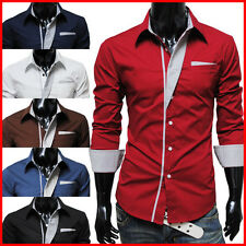 THELEES Mens premium casual long sleeve shirts collection with free shipping