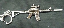COLLECTOR'S METAL REPLICA M4 CARBINE ASSAULT RIFLE MACHINE GUN KEYRING UK SELLER