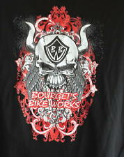 Bourget's Bike Works Skull with Horns Short Sleeve in Black