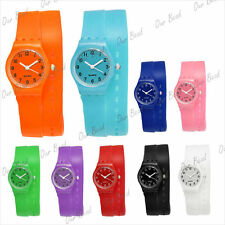 Long band silicone/rubber/jelly wrist sport watch bracelet for women/men/kids