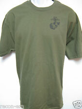 USMC T-SHIRT/ FRONT PRINT/ MILITARY/ NEW