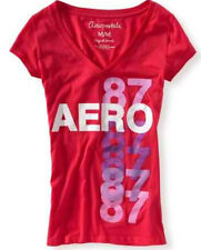 NEW Pink Aeropostale Aero Womens Shimmer Multi 87 Graphic Tee Shirt M L XL XXL